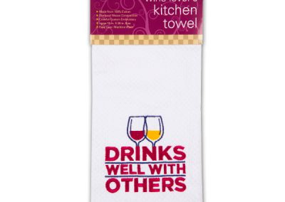 drinks well towel